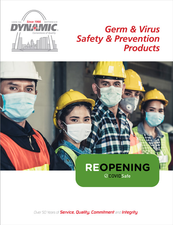 Dynamic Covid-19 Germ & Virus Safety & Prevention Products flyer
